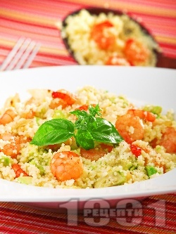 Кус-кус с авокадо и скариди - снимка на рецептата